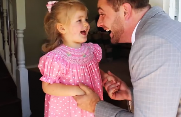 Daddy takes daughter on first date